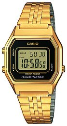 Casio Casio Collection LCD/Gulltonet stål 33.5x28.6 mm LA680WEGA-1ER
