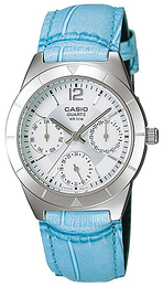 Casio Casio Collection Sølvfarget/Lær Ø31 mm LTP-2069L-7A2VEF