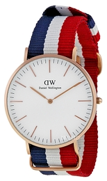 Daniel Wellington Classic Cambridge Antikk hvit/Tekstil Ø40 mm DW00100003