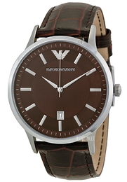 Emporio Armani Dress Brun/Lær Ø43 mm AR2413
