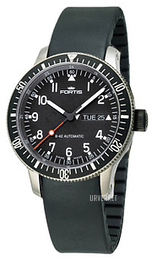 Fortis B-42 Official Cosmonauts Sort/Gummi Ø42 mm 647.27.11.K