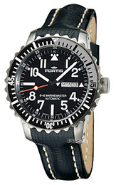 Fortis B-42 Marinemaster Sort/Lær Ø42 mm 670.17.41 L.01
