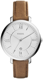Fossil Dress Sølvfarget/Lær Ø36 mm ES3708