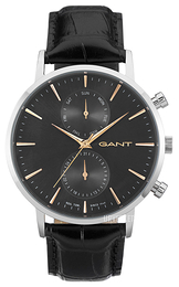 Gant Sort/Lær Ø44 mm W11202
