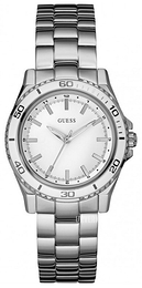 Guess Sporty Hvit/Stål Ø36 mm W0557L1
