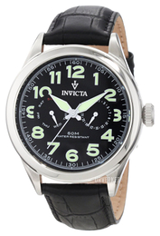Invicta Vintage Sort/Lær Ø45 mm 11741