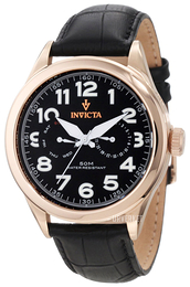 Invicta Vintage Sort/Lær Ø45 mm 11742