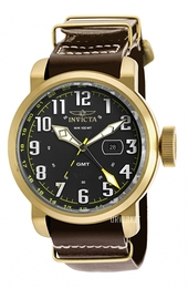 Invicta Aviator Sort/Gulltonet stål Ø52 mm 18888