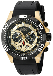 Invicta Aviator Sort/Gummi Ø49 mm 21739