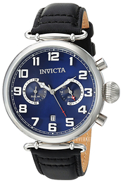 Invicta Aviator Blå/Lær Ø46 mm 22979