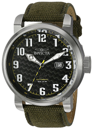 Invicta Aviator Sort/Lær Ø51 mm 23073