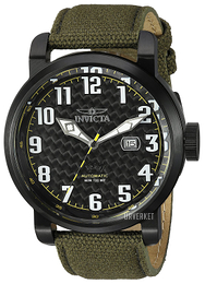 Invicta Aviator Sort/Lær Ø51 mm 23075