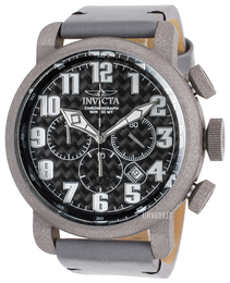 Invicta Aviator Sort/Lær Ø52 mm 23092