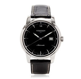 Longines Saint-Imier Sort/Lær Ø41 mm L2.766.4.52.3