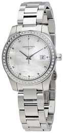 Longines Conquest Hvit/Stål Ø36 mm L3.401.0.87.6