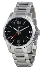 Longines Conquest Sort/Stål Ø41 mm L3.687.4.56.6