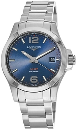 Longines Conquest Blå/Stål Ø43 mm L3.726.4.96.6