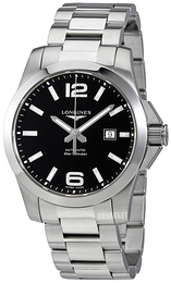 Longines Conquest Sort/Stål Ø43 mm L3.778.4.58.6