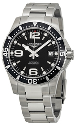 Longines Hydroconquest Sort/Stål Ø39 mm L3.641.4.56.6