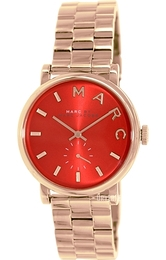 Marc by Marc Jacobs Baker Rød/Rose-gulltonet stål Ø36 mm MBM3344