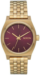Nixon The Time Teller Rød/Gulltonet stål Ø31 mm A11302809-00