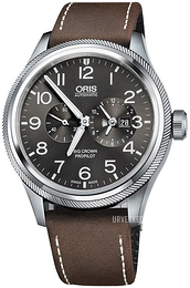 Oris Aviation Grå/Lær Ø44.7 mm 01 690 7735 4063-07 5 22 05FC