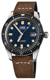 Oris Diving Blå/Lær Ø42 mm 01 733 7720 4055-07 5 21 02