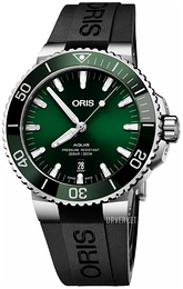 Oris Diving Grønn/Gummi Ø43.5 mm 01 733 7730 4157-07 4 24 64EB