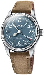 Oris Aviation Blå/Lær Ø40 mm 01 754 7741 4065-07 5 20 63