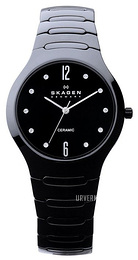 Skagen Sort/Keramik Ø37 mm 817SBXBC