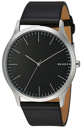 Skagen Jorn Sort/Lær Ø41 mm SKW6329