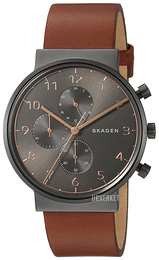 Skagen Ancher Sort/Lær Ø40 mm SKW6418