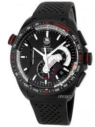 TAG Heuer Grand Carrera Calibre 36RS Caliper Automatic Chronograph Sort/Gummi Ø43 mm CAV5185.FT6020