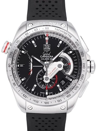 TAG Heuer Grand Carrera Calibre 36RS Caliper Automatic Chronograph Sort/Gummi Ø43 mm CAV5115.FT6019