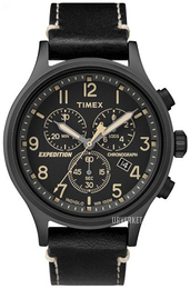 Timex Expedition Sort/Lær Ø42 mm TW4B09100