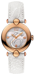 Tissot T-Gold Pretty Hvit/Lær Ø37.6 mm T918.210.76.117.00