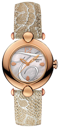 Tissot T-Gold Pretty Hvit/Lær Ø37.6 mm T918.210.76.117.01