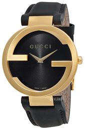 Gucci Interlocking Sort/Lær Ø37 mm YA133326