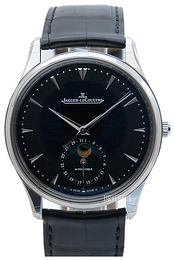 Jaeger LeCoultre Master Ultra Thin Moon Stainless Steel Sort/Lær Ø39 mm 1368470