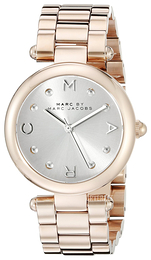 Marc by Marc Jacobs Dress Sølvfarget/Rose-gulltonet stål Ø34 mm MJ3449