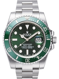 Rolex Submariner Grønn/Stål Ø40 mm 116610LV-0002